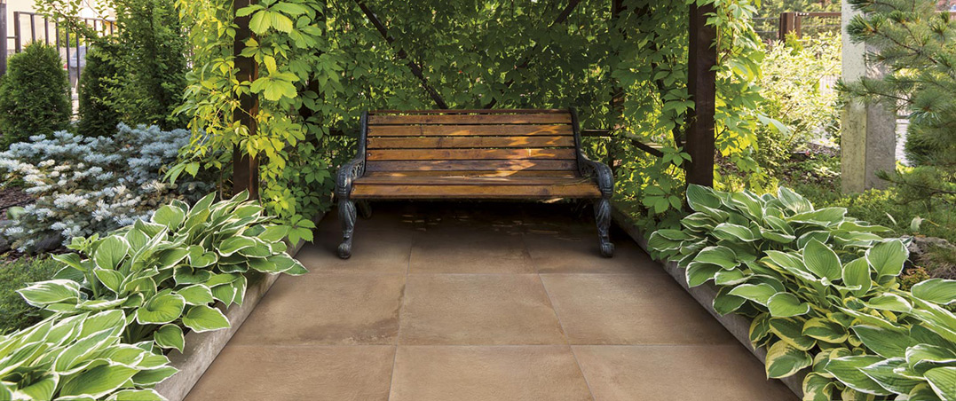 Bench in the home garden